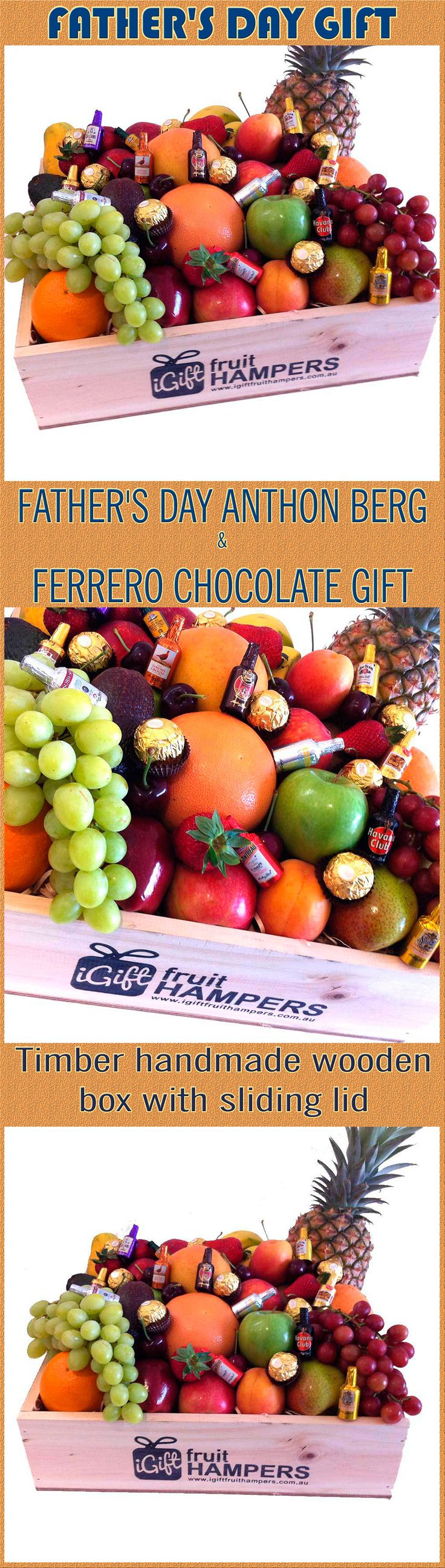 Father's Day Fruit Hampers, treat your dad with one of our beautiful fresh fruit Father's Day Gift Hampers. Give dad the gift of health this Father's Day by sending a Fruit Only Hamper .   #mothersday #FruitHampers #FruitHamper #Chocolate