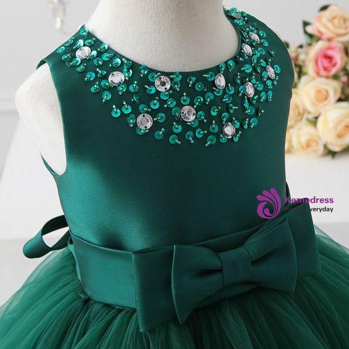2017 flower girl dresses green tulle flower girl dress communion dresses