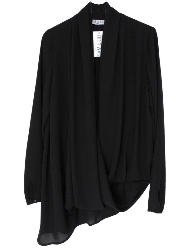 chemisier blouse drapé asymétrique sur cpourl.fr - CpourL
