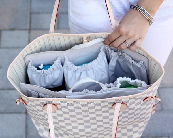 LV neverfull diaper bag