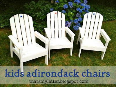 That's My Letter: DIY Kids adirondack chairs