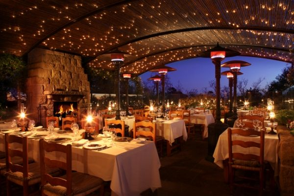 Romantic dining at its finest is what you'll find at The Stonehouse Restaurant at the San Ysidro Ranch in Montecito. Treat yourself and that special someone to a night of elegance under fairy lights on their outdoor dining patio.