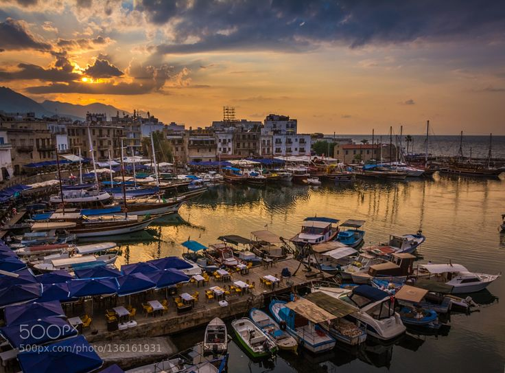 Kyrenia Harbour by akkanat. @go4fotos