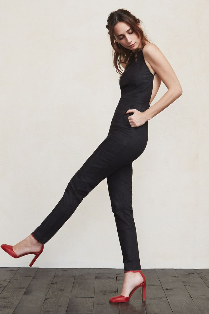 We should have named this jumpsuit Dreams Come True, but instead we named it The Oliver Jumpsuit. It is truly living the dream, sexy and super chic all in one package. This is a high neck backless jumpsuit with criss cross spaghetti strap detailing.   https://www.thereformation.com/products/oliver-jumpsuit-orta?utm_source=pinterest&utm_medium=organic&utm_campaign=PinterestOwnedPins
