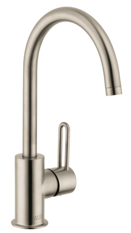 Axor 38030 Uno Single Hole Bathroom Faucet With EcoRight And ComfortZone  Technol Brushed Nickel Faucet Lavatory