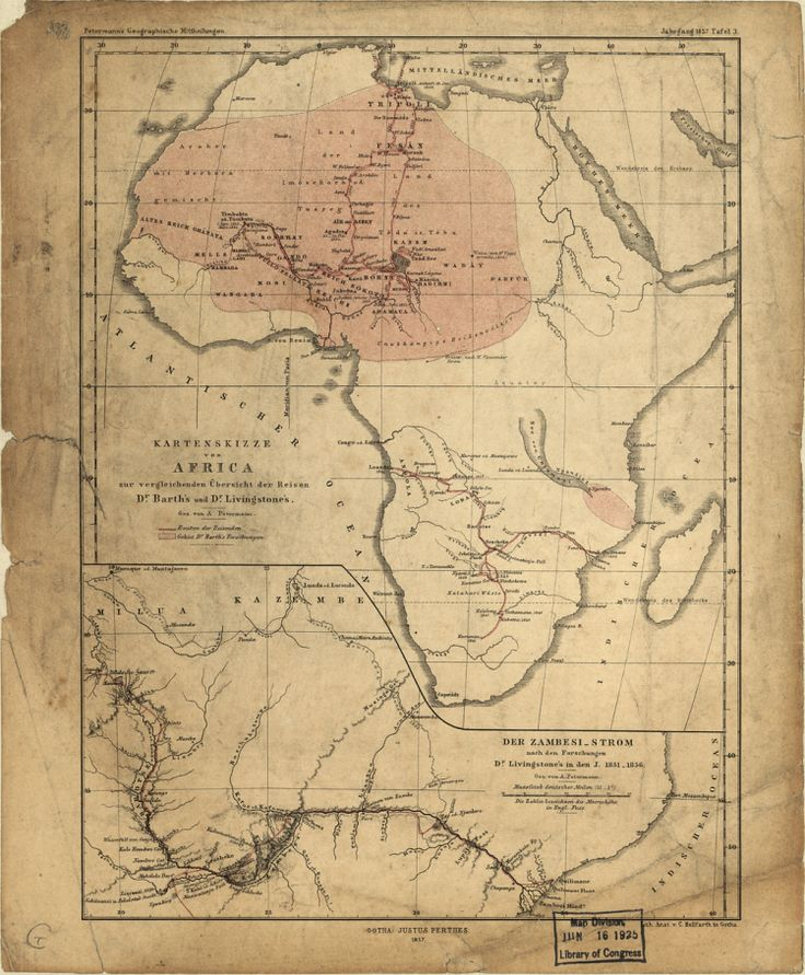 Sketch Map Of Africa With A Comparative Overview Of The Journeys Of Dr.  Barth And