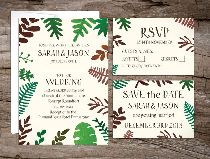 Wedding Invitations to start your exciting adventure together
