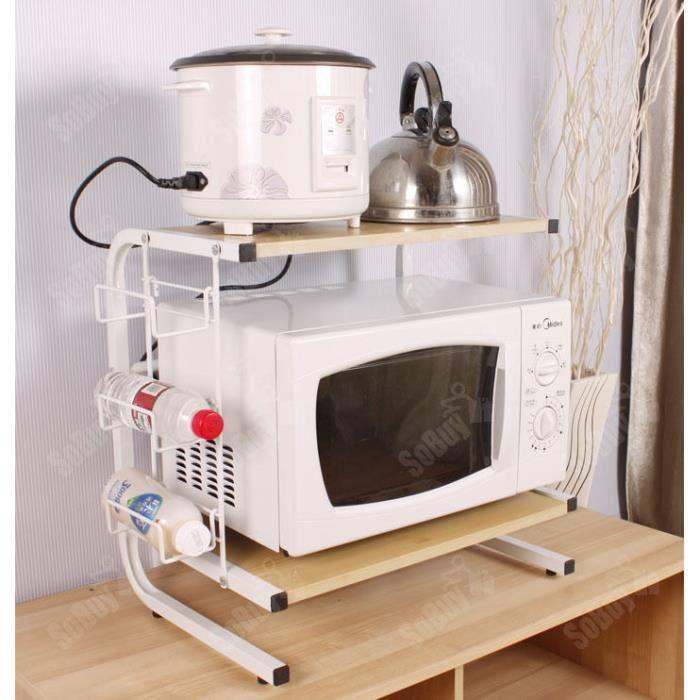armoire de cuisine mini tablette multifonction rangement micro onde - Achat / Vente meuble range bouteille armoire de cuisine mini tab - Cdiscount