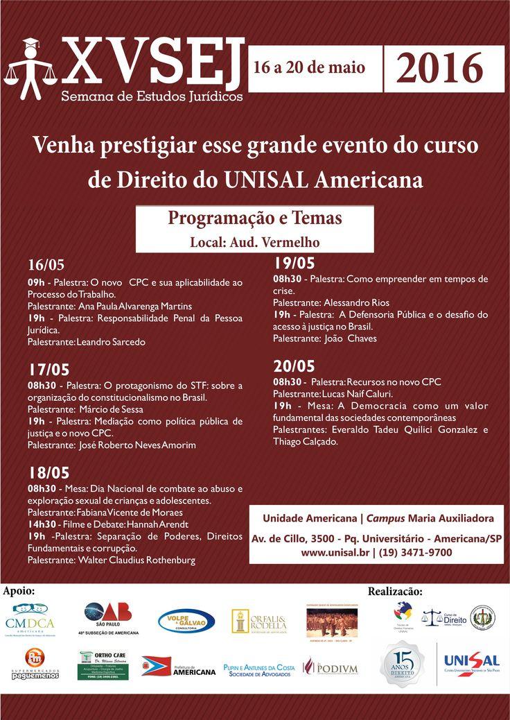 Cartaz Evento UNISAL