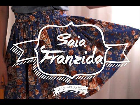 TUTORIAL SAIA FRANZIDA SUPER FÁCIL - #DIY                                                                                                                                                                                 Mais