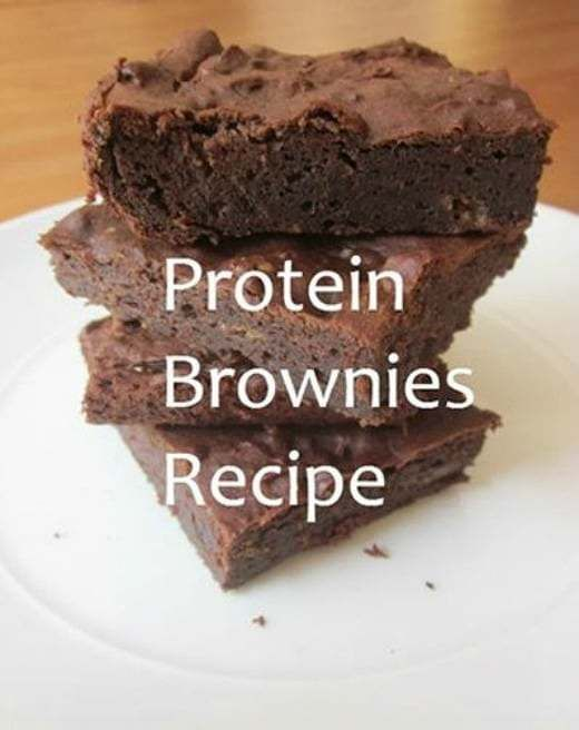 "Good protein snacks  Protein Brownies  ""...using chocolate protein powder, almond milk, almond butter and stevia. Great post workout snack!"" …"