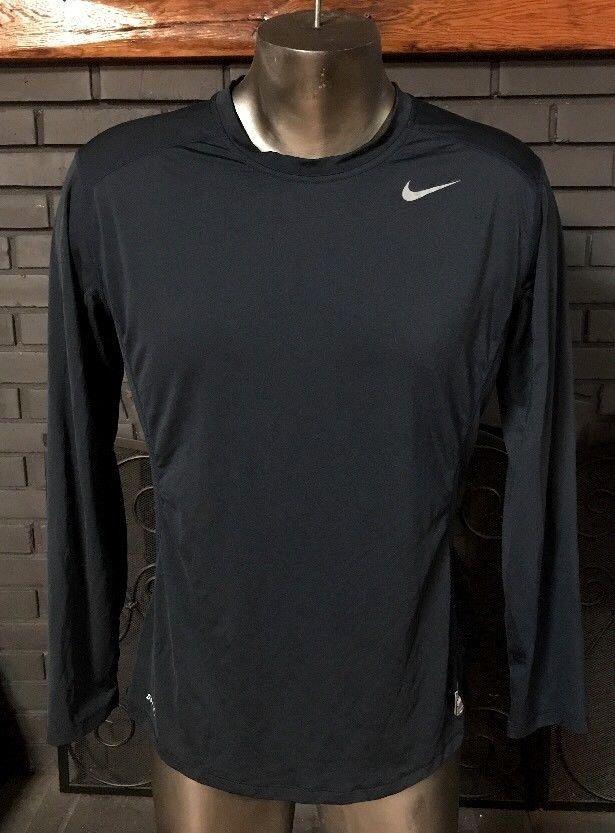8e2b97f6 Nike Pro Combat Dri Fit Fitted Long Sleeve Shirt Blue Men's Size Large #Nike  #FittedLongSleeve