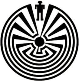 "According to O'odham oral history, the labyrinth design depicts experiences and choices we make in our journey through life. In the middle of the ""maze"", a person finds their dreams and goals. When one reaches the center, we have one final opportunity (the last turn in the design) to look back upon our choices and path, before the Sun God greets us, blesses us and passes us into the next world."
