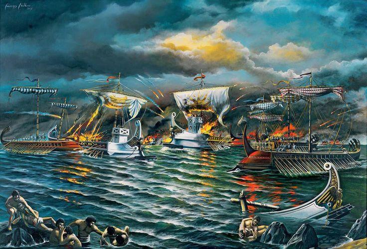 EISTOEPANIDEIN: Η ΝΑΥΜΑΧΙΑ ΤΟΥ ΑΡΤΕΜΙΣΙΟΥ: ΤΗΝ ΙΔΙΑ ΩΡΑ ΕΔΙΝΕ Ο ΛΕΩΝΙΔΑΣ ΜΕ ΤΟΥΣ 300 ΤΗΝ ΜΑΧΗ ΣΤΙΣ ΘΕΡΜΟΠΥΛΕΣ...