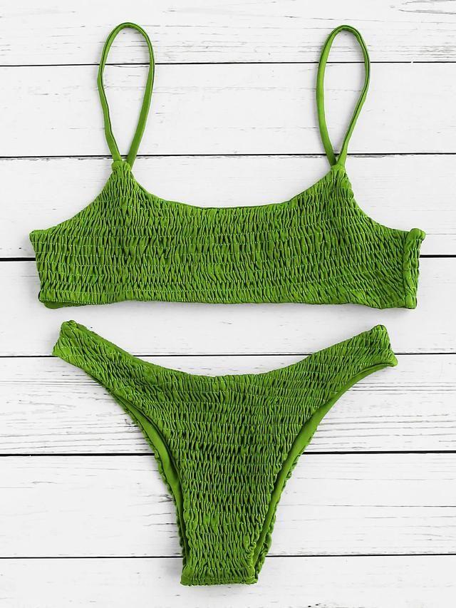 Shirred Sexy Bikini Set