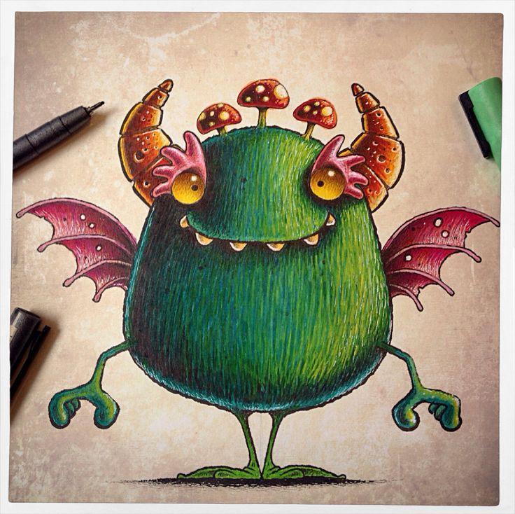 Monster doodle from sketchbook!