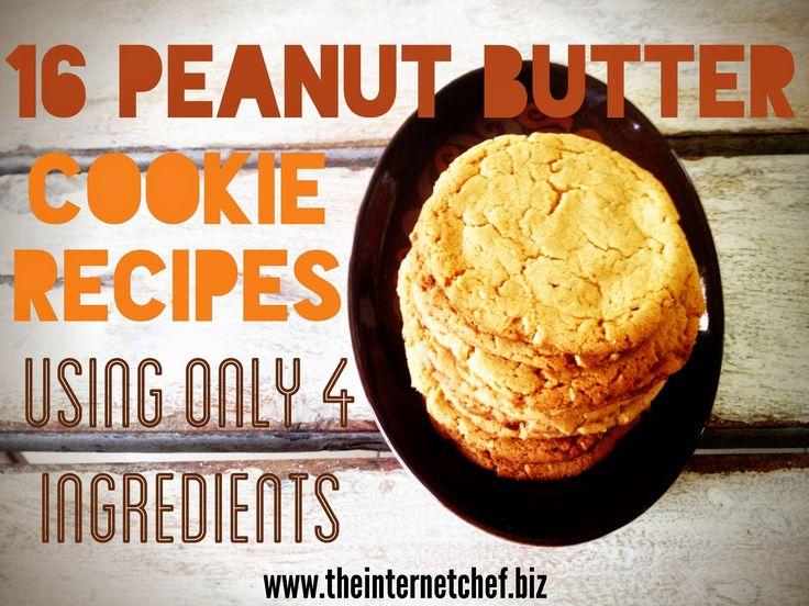 16 Peanut Butter Cookie Recipes using only 4 ingredients {Video}