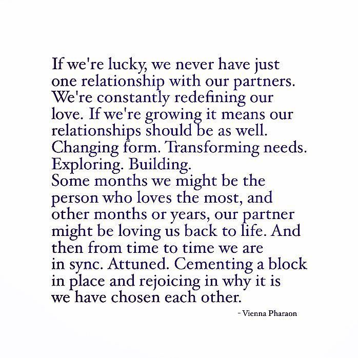 Our relationships are constantly shifting and moving. Who we are today should be different than who we'll be in a year or five or twenty. Sure maybe our core stays the same but our desires shift...our emotional needs change...the way we want to be loved gets redefined. And all of that is okay...except sometimes it doesn't happen at the same time as our partners and that demands us to dig in and see what it is we've got in our tanks.  If we're lucky we have a person who wants to join us on…