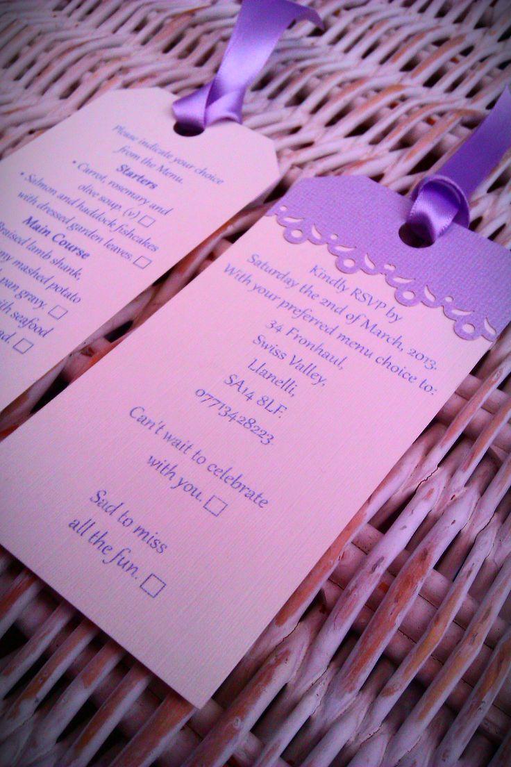 RSVP wedding tags