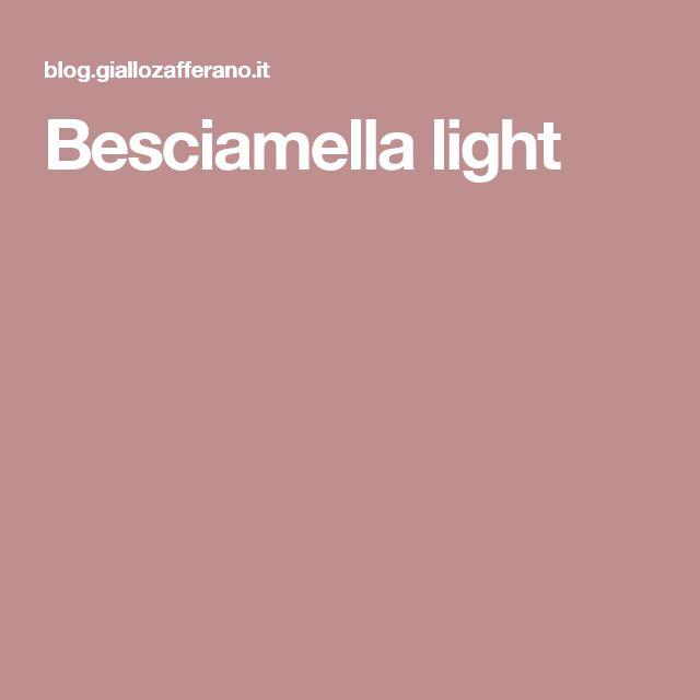 Besciamella light