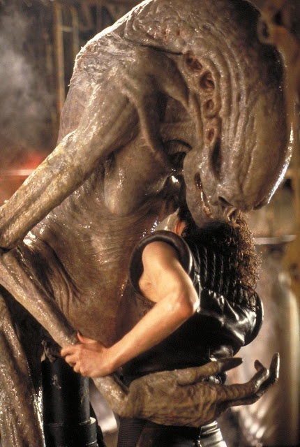 Like mother, like daughter... seriously, Alien Ressurection was one of the creepiest horror alien movie.
