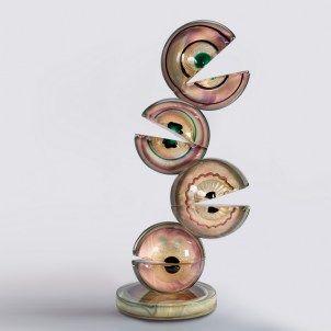 Occhi Beta - Scultura in vetro