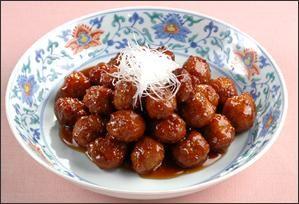 中華風肉団子(五香粉、パプリカ、ピーマン、玉ねぎ加えても○)