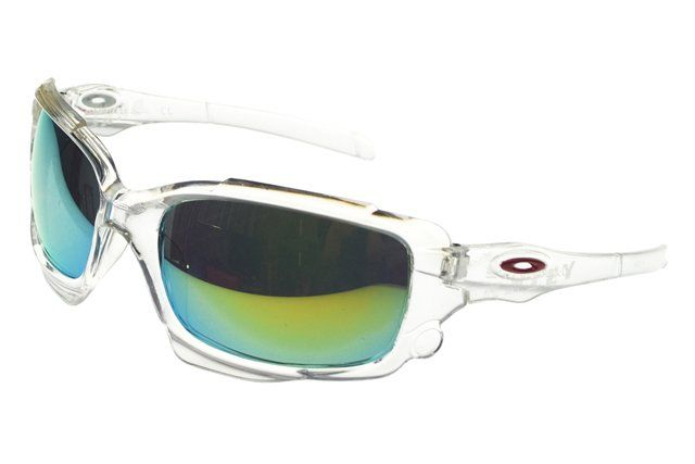 Wholesale Replica Oakley Asian Fit Sunglasses White Frame Colored Lens#Oakley Sunglasses