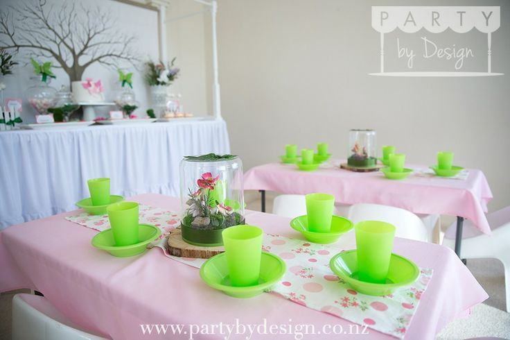 Garden Fairy themed children's party package. Contact us at party@partybydesign.co.nz.