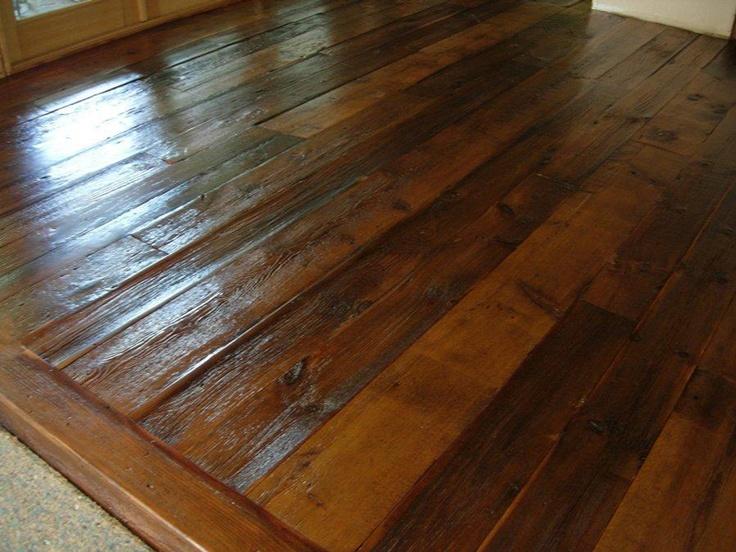 reclaimed barn board flooring   Rustic Decor   Pinterest