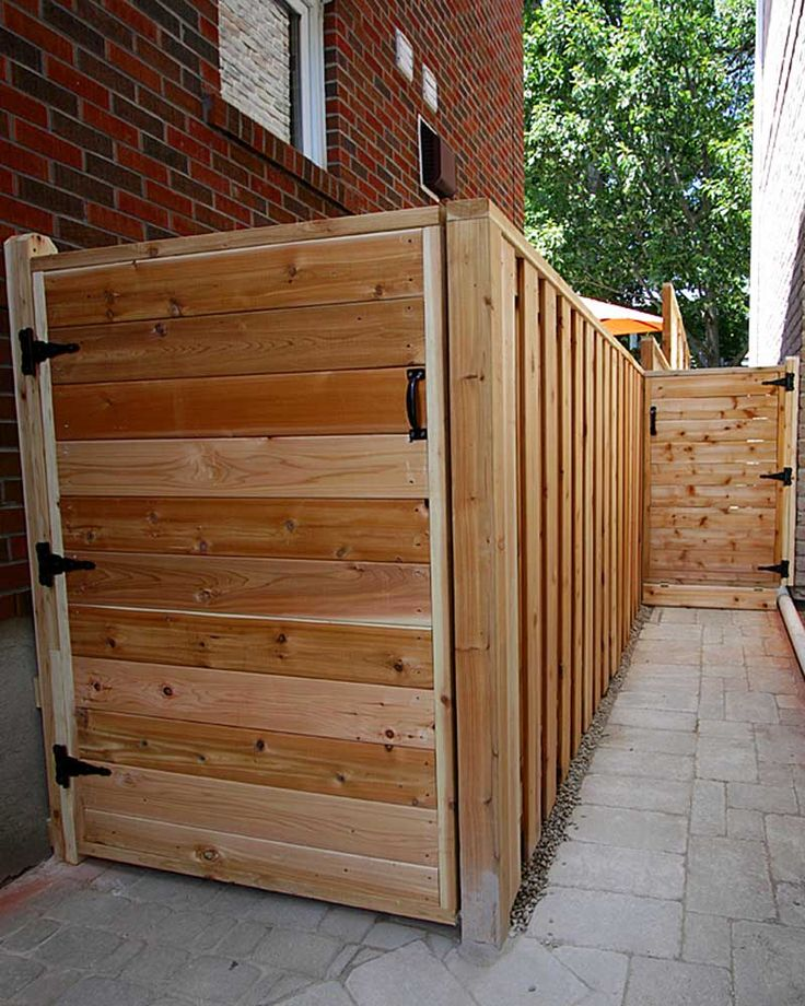 Cedar gates and fence.