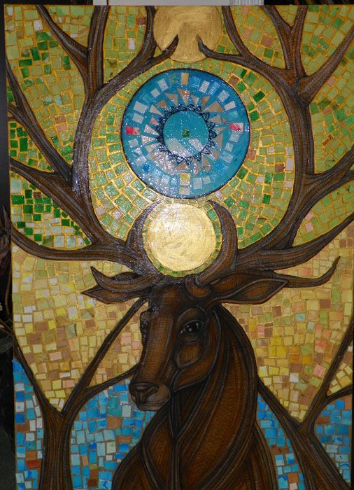 sacred stag art | Latest Artwork: Coronation of the Forest King | Pen and Think