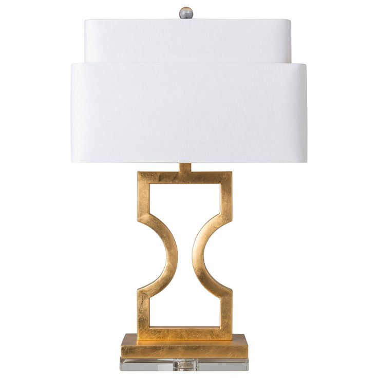 Surya wellesly table lamp the shapely open design of the surya wellesly table lamp is customized by your choice of available metallic finish