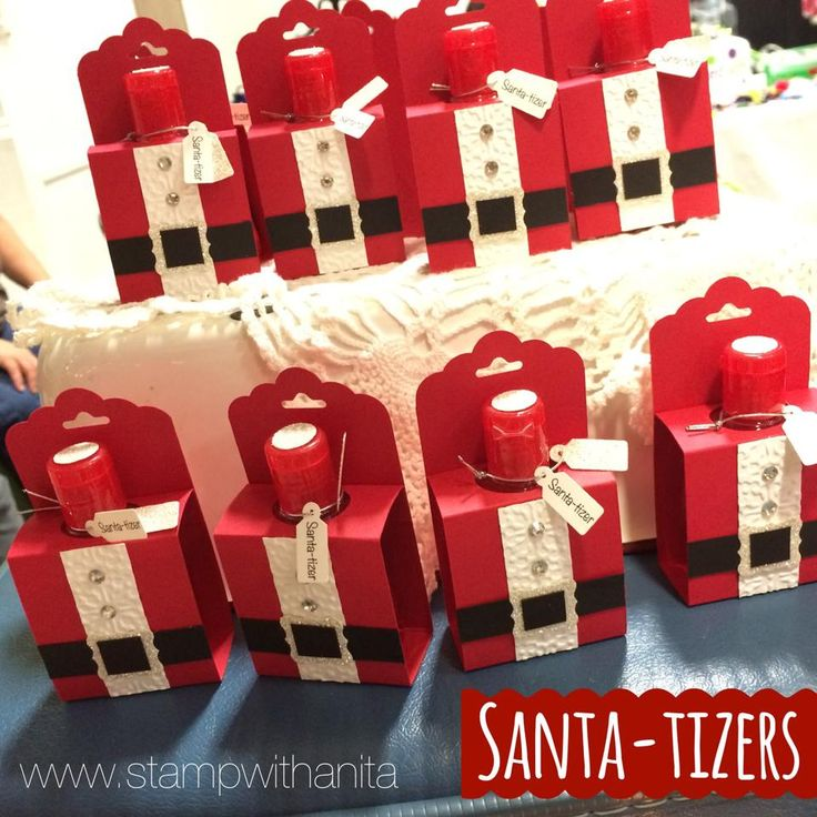 "FREE ""Santa-tizer"" Tutorial… My Gift To You | Stamp With Anita"