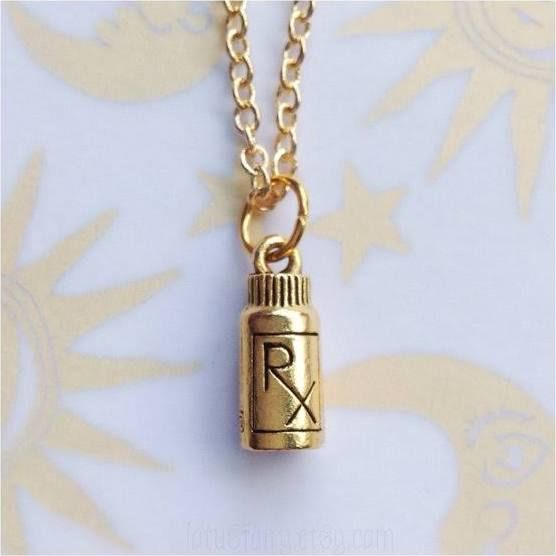 Pill jewelry google search iwantiwant new for Pill bottle jewelry