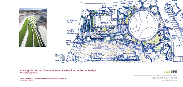 First sketch for the Water Culture Museum Renovation, 2015 / Designed by Studio101