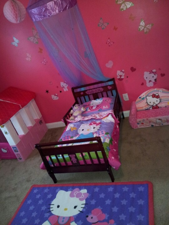 Hello Kitty Toddler Room Love It