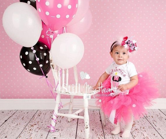 Classic Pink and White Minnie Mouse by AllieKatBoutique on Etsy, $50.00