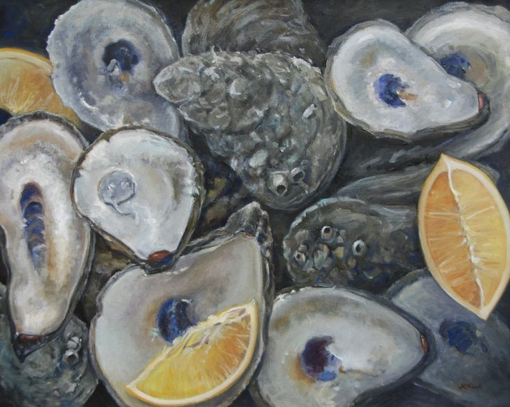 "'The World is your Oyster,"" oil, 24x30 http://www.michelmcninch.com"
