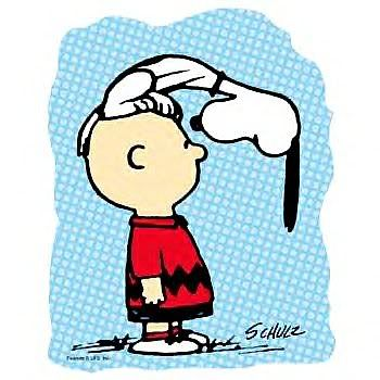 Charlie Brown and Snoopy! My favorite thing that Snoopy used to do to Charlie Brown. Do you think he wanted his attention? LMBO!