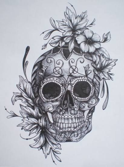 17 New Ideas Tattoo Sunflower Skull Half Sleeves –  – #Uncategorized
