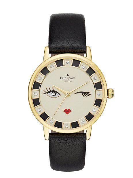 56be9c70836 kiss everyday style goodbye with this cheeky kate spade new york metro  watch. a black. Relógios FemininosMelhorarFemininaPulseirasRelógios ...