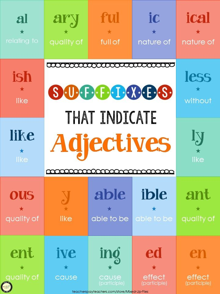 list of adjectives and their meanings pdf