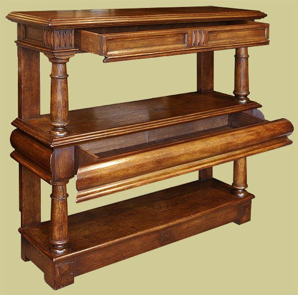 Exceptional James 1st Period Style Oak Court Cup Board, Or Buffet.