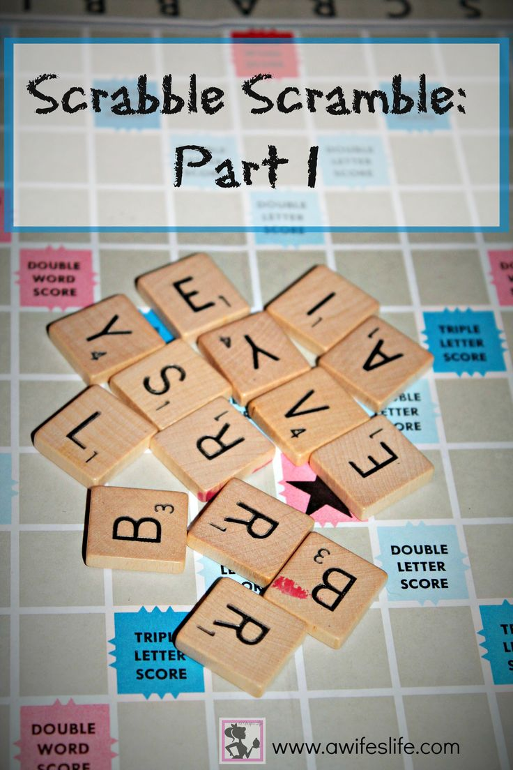 Scrabble Scramble, making a sign from a Scrabble board on www.awifeslife.com
