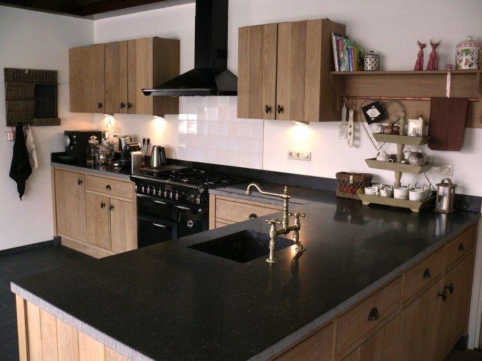 Kleine landelijke keuken met eiland s k p google keuken pinterest house - Kleine keuken amerikaanse keuken ...