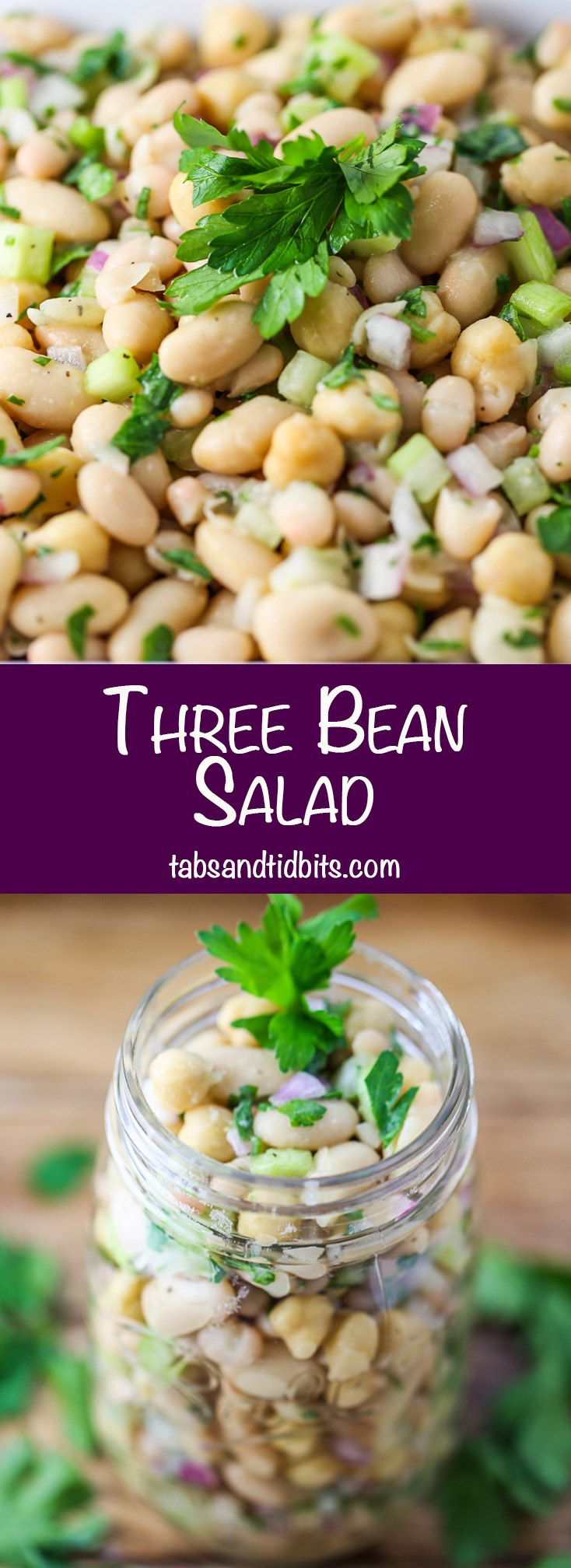 A protein packed healthy three bean salad.