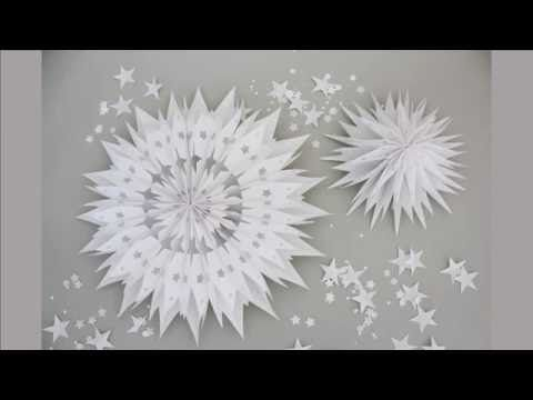 Tutorial: Make an Easy paper bag star - Christmas crafts: Paper Stars for christmas - 3D - YouTube