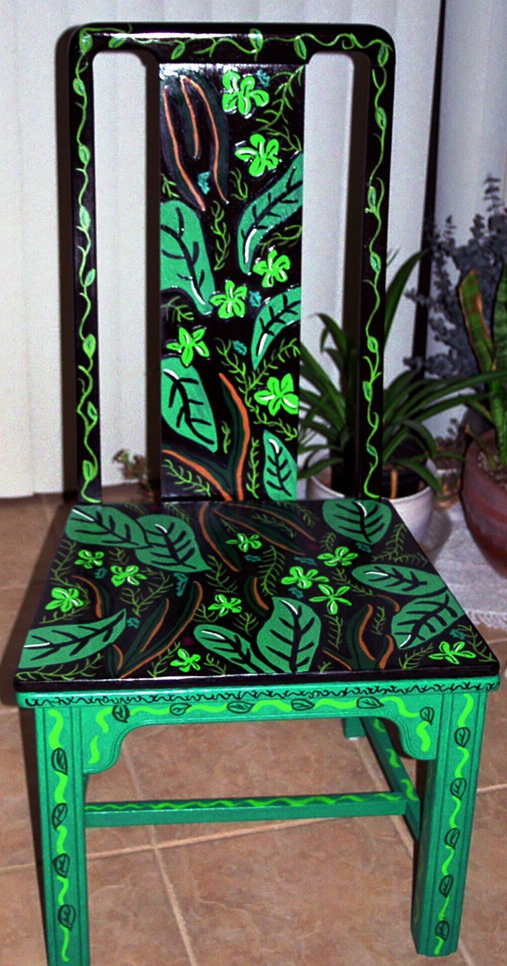 Cool chair paint designs - Personal Artwork Painted Chairs By Carrie Butler At Coroflot Com