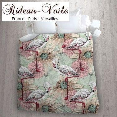 Tissu Imprime Motif Exotique Housse De Couette Tropical Tissu